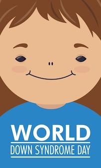 Światowy dzień zespołu downa z małą dziewczynką
