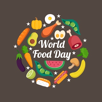 Światowy dzień żywności ręcznie rysowane koncepcja