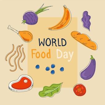 Światowy dzień żywności ręcznie rysowane tła