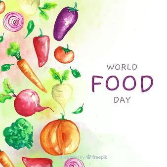 Światowy dzień żywności z akwarelami żywienia projektu