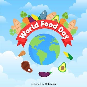Światowy karmowy dnia tła pojęcie
