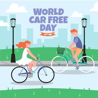 Światowy motyw dnia bez samochodu