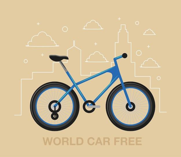 Światowy plakat bez samochodu
