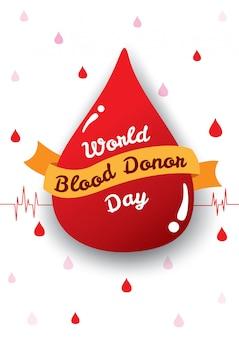 Światowy plakat dnia dawcy krwi