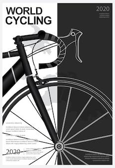 Światowy plakat rowerowy