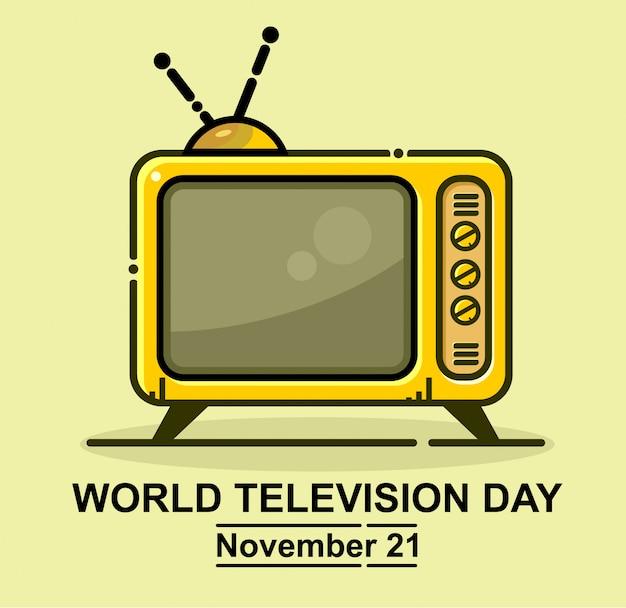 Światowy telewizyjny dzień ikony wektor