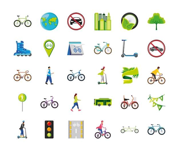 Światowy zestaw dnia bez samochodu