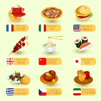 Światowy zestaw do jedzenia