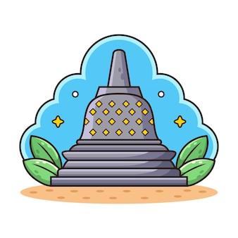 Świątynia z kreskówka liść.