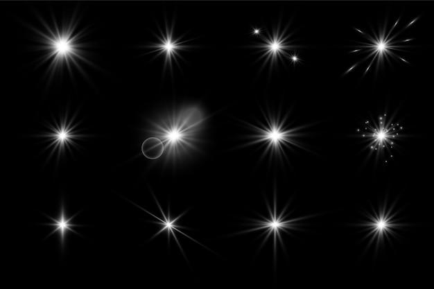 Świeć gwiazd błyskotkami i błyskotkami.
