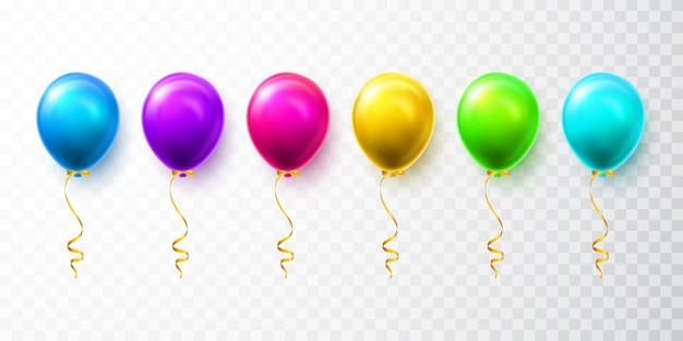 Świeć kolorowym balonem wypełnionym helem