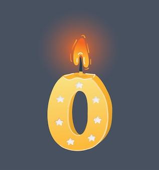 Świeca urodzinowa zero