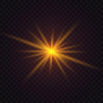 Świecąca gwiazda, świecący efekt świetlny