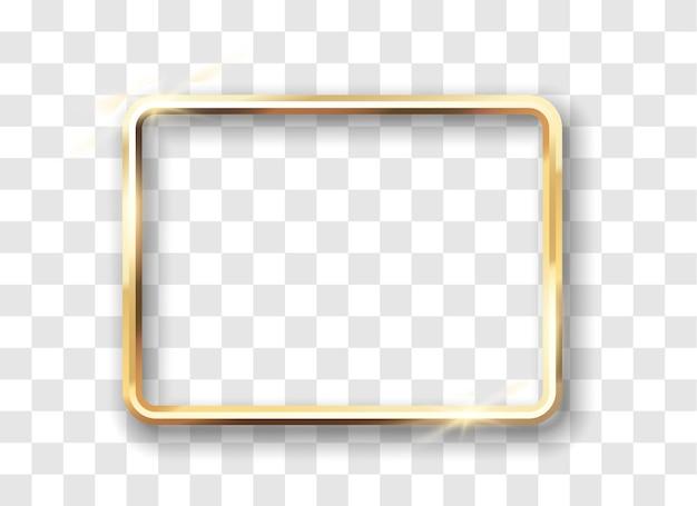 Świecąca złota rama w stylu vintage