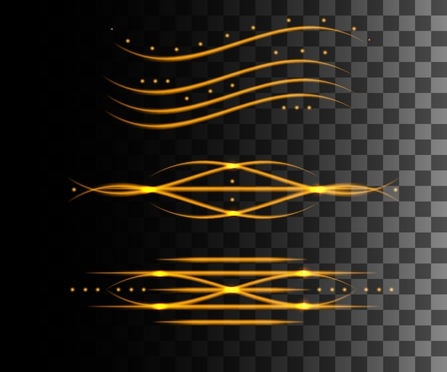 Świecące abstrakcyjny efekt linii.