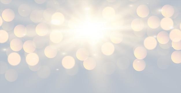 Świecące białe tło efekt świetlny bokeh