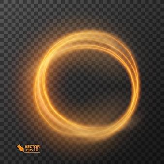 Świecące błyszczące okrągłe linie efekt tła