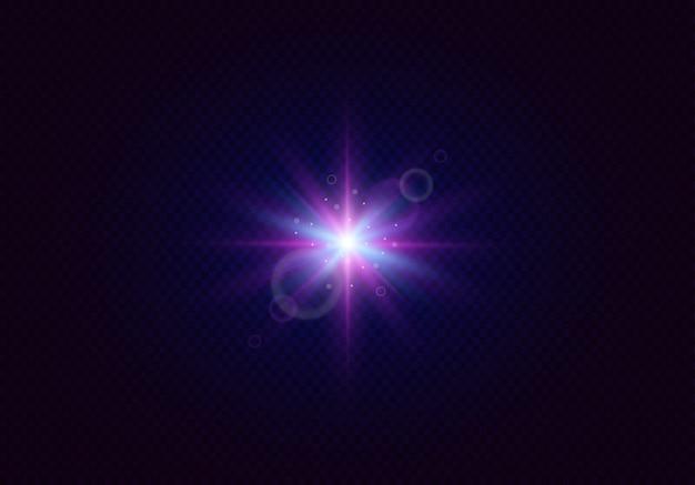 Świecące flary obiektywu