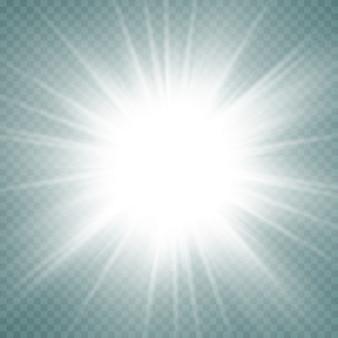 Świecące gwiazdy na przezroczystym tle