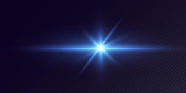 Świecące neonowe gwiazdy na czarnym tle efekty flary połysk eksplozja neon light