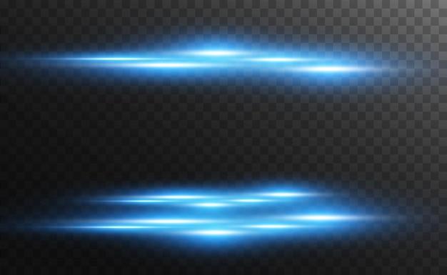 Świecące neonowe linie na przezroczystym tle abstrakcyjny projekt cyfrowy