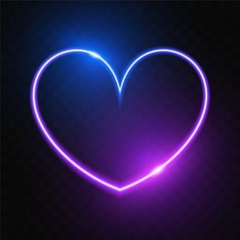 Świecące purpurowe serce transparent
