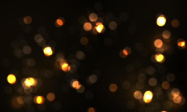 Świecące światła bokeh świecące gwiazdki drobinki słońca iskry z efektem flary obiektywu świąteczny pył