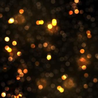Świecące światła bokeh