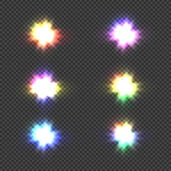 Świecące światła eksplozja lub błysk światła