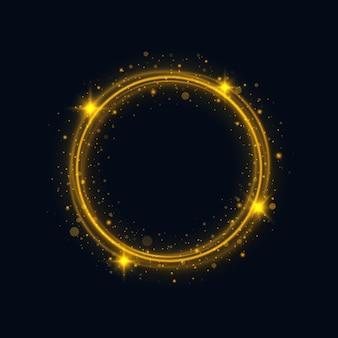 Świecące światło śladu pierścienia ognia