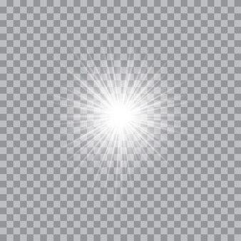 Świecące światło wybucha iskierkami