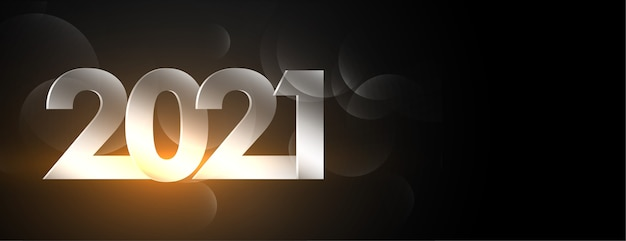 Świecące szczęśliwego nowego roku czarny sztandar