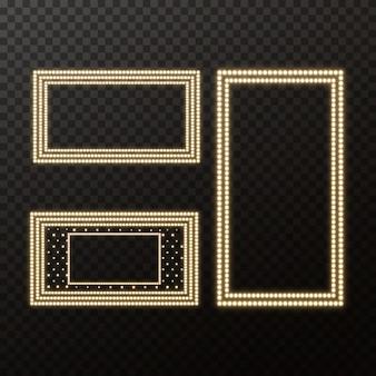 Świecące szyld filmu ze złotą żarówką