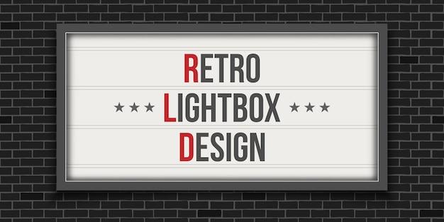 Świecące szyld kinowy, teatr retro lightbox.