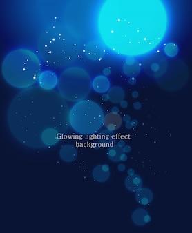 Świecące tło efekt świetlny