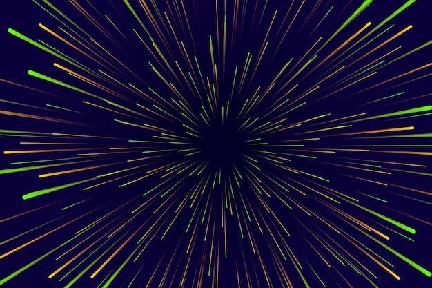 Świecące tło światła prędkości