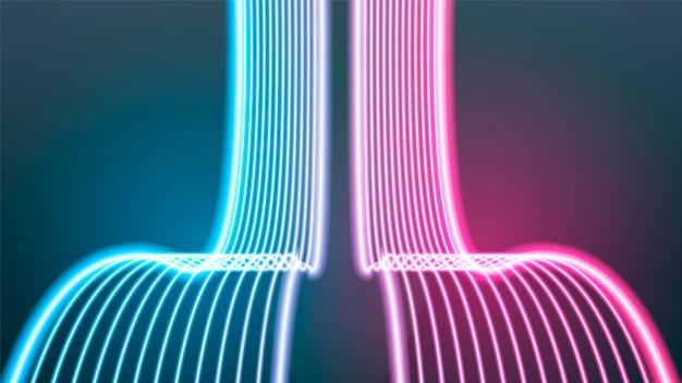 Świecące wirować neony streszczenie tle