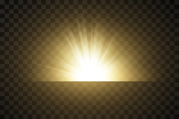 Świecące złote gwiazdy na czarnym tle. efekty, blask, linie, blask, eksplozja, złote światło. illustration.set.