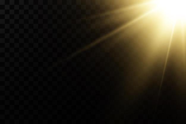 Świecące złote gwiazdy na czarnym tle