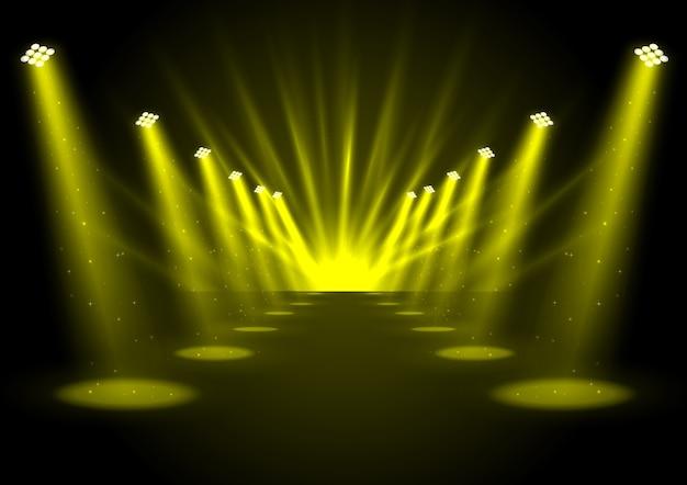 Świecące złote reflektory