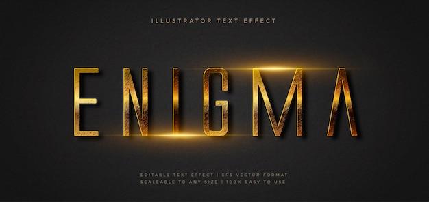 Świecący efekt czcionki stylu tekstu tytułu filmu