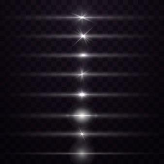 Świecący efekt magicznego światła i długie ślady ognia w ruchu