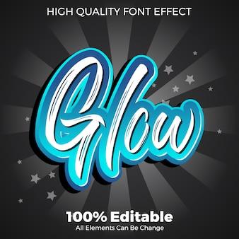 Świecący efekt pędzla edytowalny styl czcionki