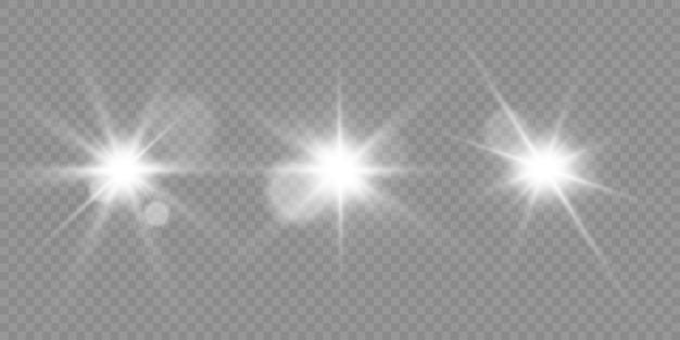 Świecący efekt świetlny z wieloma drobinkami brokatu