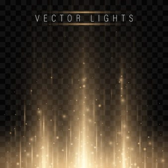 Świecący magiczny efekt świetlny i długie ślady ruchu ognia.