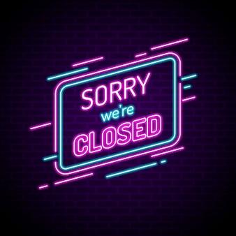 Świecący neon jesteśmy zamkniętym znakiem