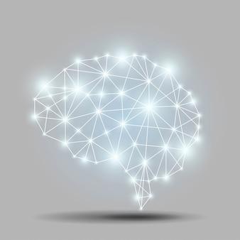 Świecący wielokąt mózgu