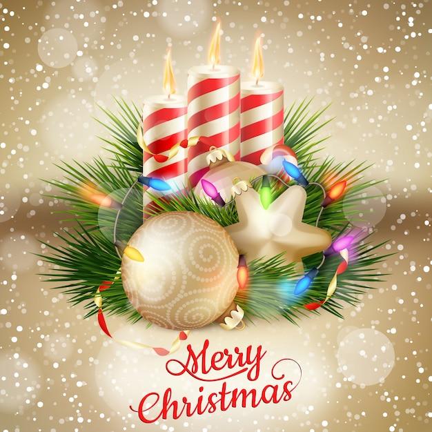 Świece i ozdoby świąteczne.