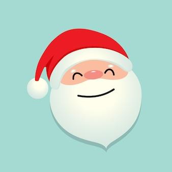 Święta bożego narodzenia tło z santa claus kreskówka. ilustracji wektorowych