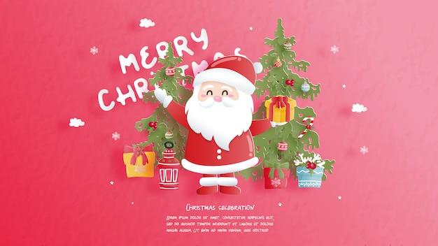 Święta bożego narodzenia w stylu cięcia papieru